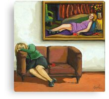 Contemporary figurative realism - The Rose Canvas Print