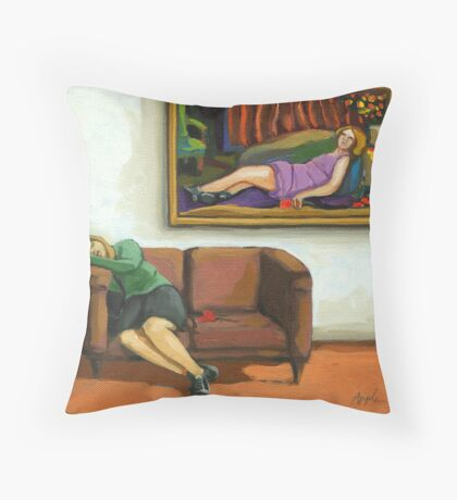Contemporary figurative realism - The Rose Throw Pillow