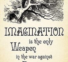 Alice in Wonderland Quote - Imagination is the only Weapon in the war against Reality - Cheshire Cat - 0139 by ContrastStudios