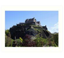 Edinburgh Castle and Princes Street Gardens Art Print