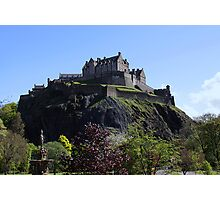 Edinburgh Castle and Princes Street Gardens Photographic Print
