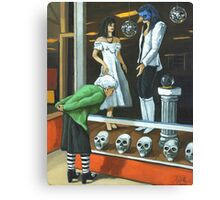 Halloween Shopping - portrait Canvas Print