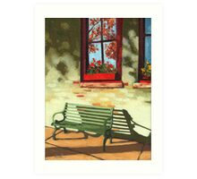 Empty Bench - oil painting Art Print