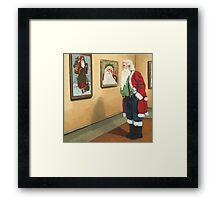 Museum Visitor - Santa Christmas Framed Print