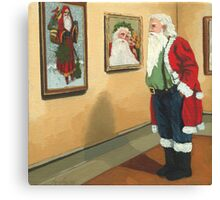 Museum Visitor - Santa Christmas Canvas Print