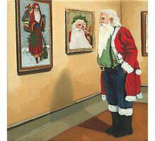 Museum Visitor - Santa Christmas Photographic Print