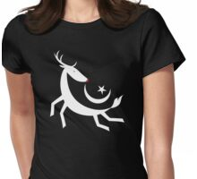Flying Rudolph Womens Fitted T-Shirt