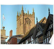St Laurence Parish Church, Medieval Ludlow, UK Poster