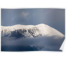 Snowy Alpine peak Poster