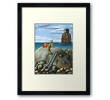 Lazy Days - surreal landscape Framed Print