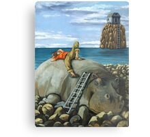 Lazy Days - surreal landscape Metal Print