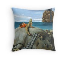 Lazy Days - surreal landscape Throw Pillow