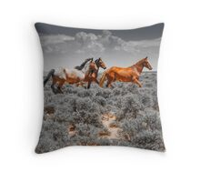 Navajo Horses Throw Pillow