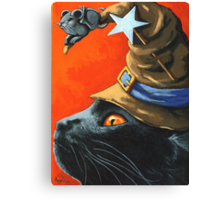Witch Cat Canvas Print