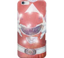 Red Ranger Poster iPhone Case/Skin