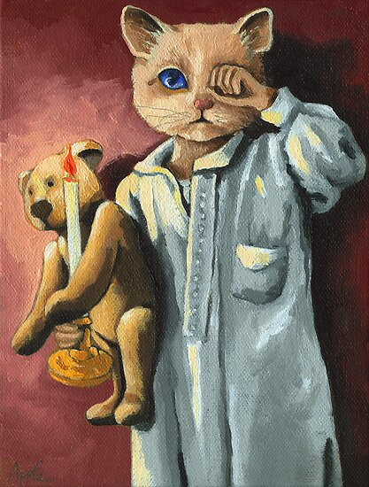 Wee Willie Winkie on Xmas Eve by LindaAppleArt