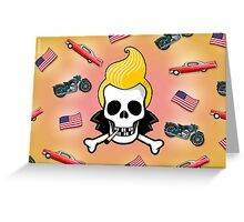 JIMMY D 50s SKULL Greeting Card