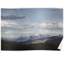 Yellowstone National Park - Mountain Range Poster