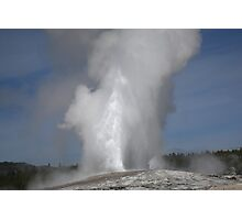 Old Faithful - Yellowstone Park Photographic Print