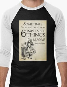 Alice in Wonderland Quote - Six Impossible Things - Lewis Carroll - 0111 T-Shirt