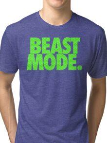BEAST MODE. - Electric Green Tri-blend T-Shirt