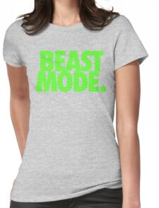 BEAST MODE. - Electric Green Womens Fitted T-Shirt