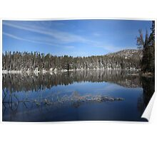 Yellowstone National Park - Mountain Lake Poster
