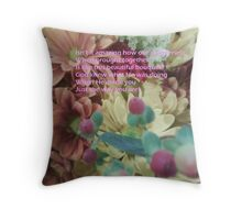 We Are God's Bouquet Throw Pillow