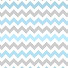 Blue Chevrons by Claire Dimond