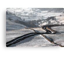 Cam Gill Road - Winter Canvas Print