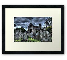 Monastery ruins at Greyabbey. Framed Print