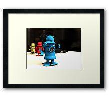 Kitchen Toy Robot Helpers Framed Print