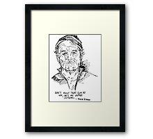 Zissou. Framed Print