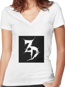 "Zeds Dead ""ZD"" Logo Women's Fitted V-Neck T-Shirt"