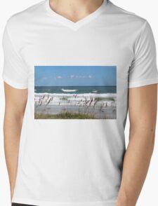 Breaking Waves Mens V-Neck T-Shirt