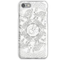 Celtic Rabbit Mandala Black and White iPhone Case/Skin