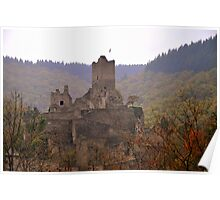 Manderscheid Castle in the Fall Poster