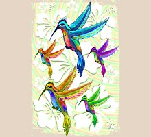 Hummingbirds Multicolors Pattern Unisex T-Shirt