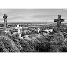 Lundy Island Graveyard Photographic Print