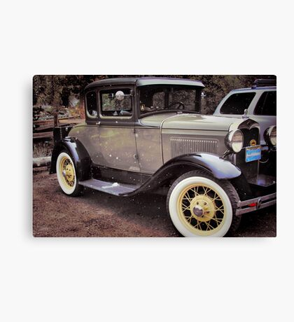 Classic in the Snow Canvas Print