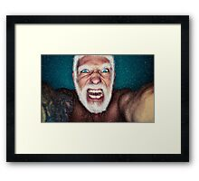 Bad Santa Framed Print