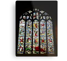 Jesse Window, St Dyfnogs Church, Llanrhaeadr Metal Print