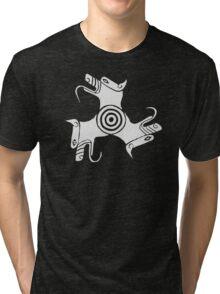 Cerberus (pale grey) Tri-blend T-Shirt