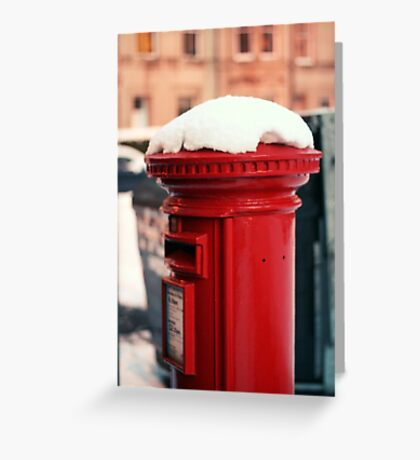Snowy Postbox Greeting Card