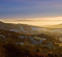 Malvern Hills: A Winter Panorama by Angie Latham