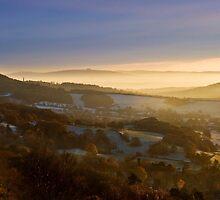 Malvern Hills: A Winter Panorama by Angie Latham
