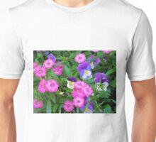 Pink & Purple Flowers Unisex T-Shirt