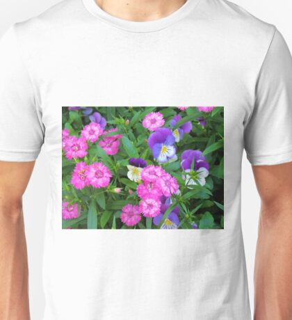 Pink & Purple Flowers Unisex T-Shirt