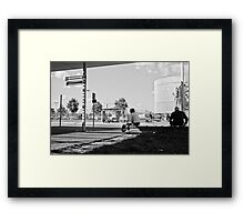 The waiting zone Framed Print