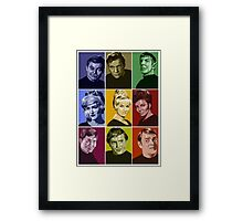 Star Trek TOS Crew (stylized) Framed Print